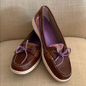 Sperry Angelfish Tan/Purple Sea